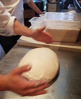 our special unica pizza dough